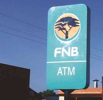 Banking & Finance - FNB Mini-pylon_sign-edition11