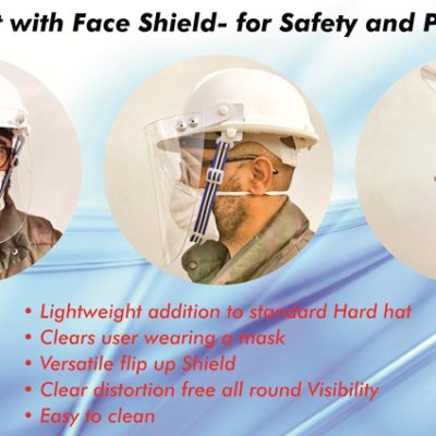 sign edition_Covid - Hardhat with face shield