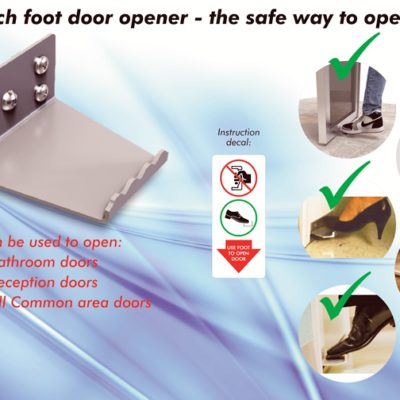sign edition_Covid - No-touch foot door opener